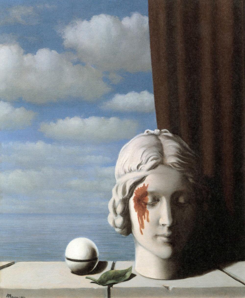 René Magritte La mémoire 1948, Öl auf Leinwand 60 x 50 cm, Fédération Wallonie-Bruxelles, Ministère de la Communauté française, Bruxelles (Bild: © Prolitteris 2018)