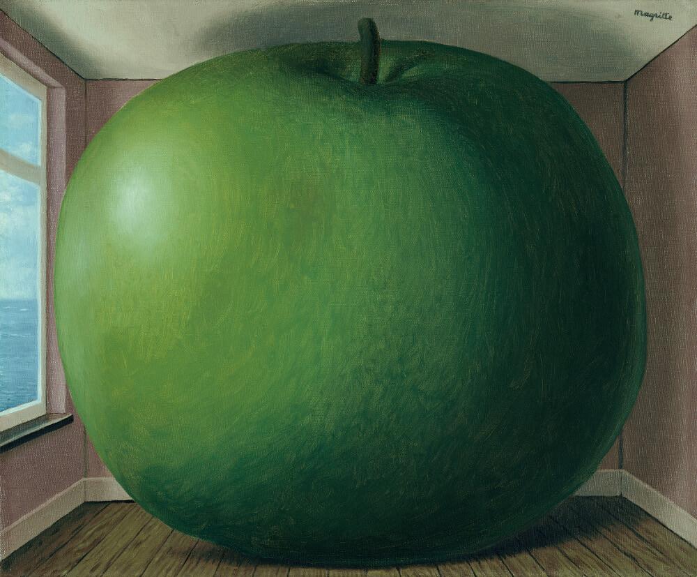 René Magritte, La chambre d'écoute, 1958, Öl auf Leinwand 38 x 46 cm, Kunsthaus Zürich, Zürich (Bild: © Prolitteris 2018)