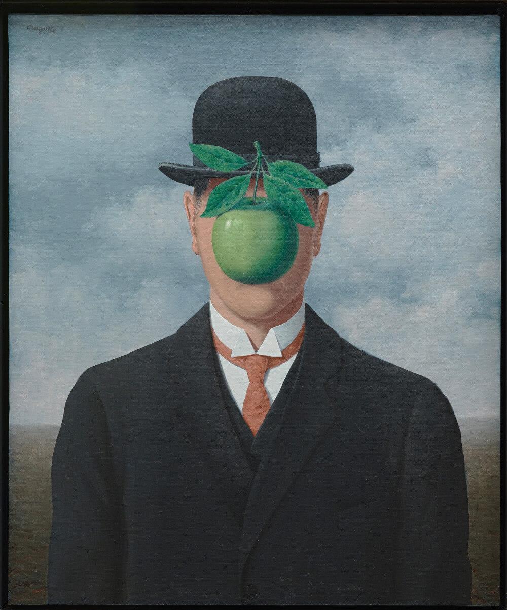 René Magritte La grande guerre 1964, Öl auf Leinwand 65 x 54 cm, Esther Grether Familiensammlung (Bild: © Prolitteris 2018)