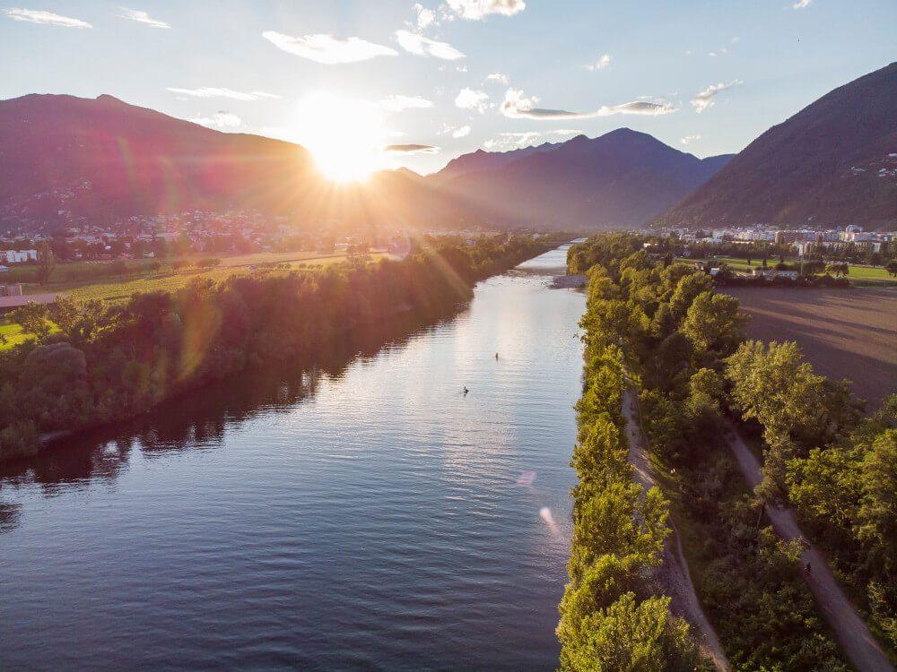 Foce della Maggia (Bild: Ticino Turismo - Foto Luca Crivelli)