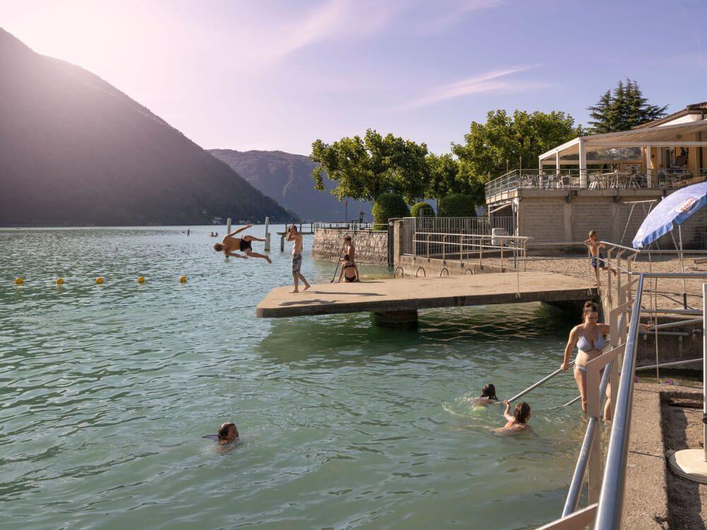 Lido di Melano (Bild: Ticino Turismo - Foto Luca Crivelli)
